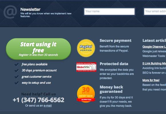monitor backlinks service website information