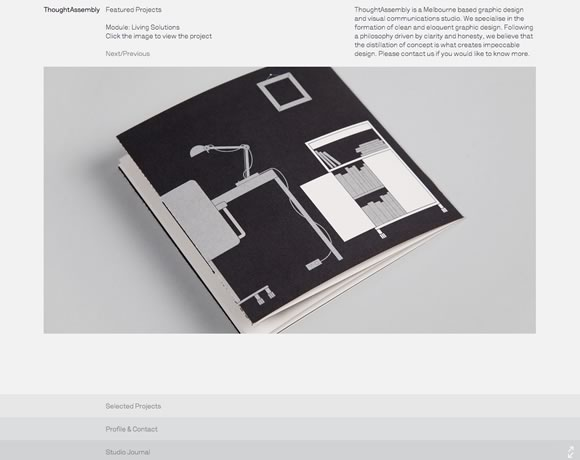 21 Examples of Black, White & Grey Usage in Web Design