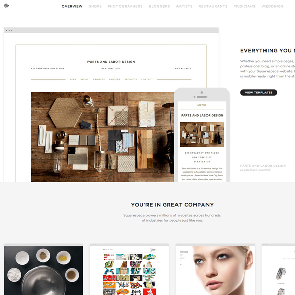 Great examples of Minimal Websites