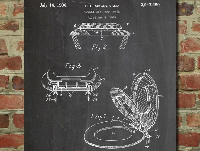 toilet seat patent 1934 art