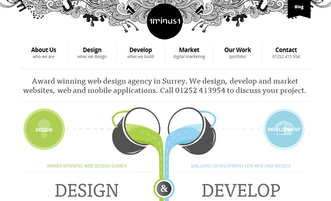 1minus1 design agency navigation