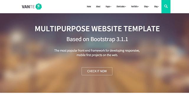 VANTE5 - Multipurpose Bootstrap Template