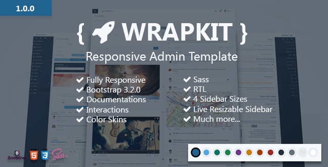 Wrapkit - Responsive Admin Template