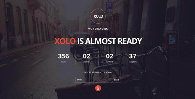Xolo - Minimal Coming Soon Template