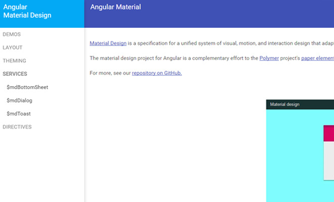 angular material design open source