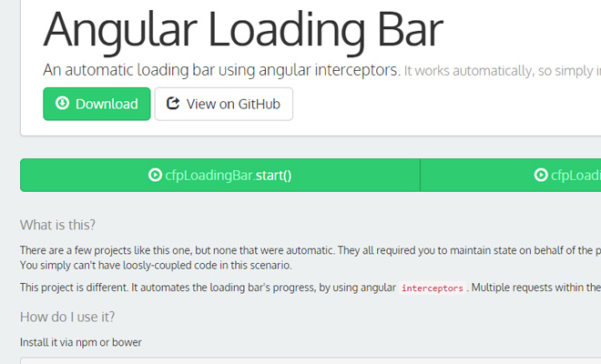 angular loading bar github open source