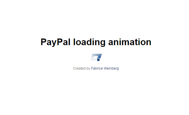 css3 paypal loading animation effect open source
