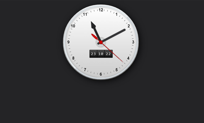 css3 working clock animated effect
