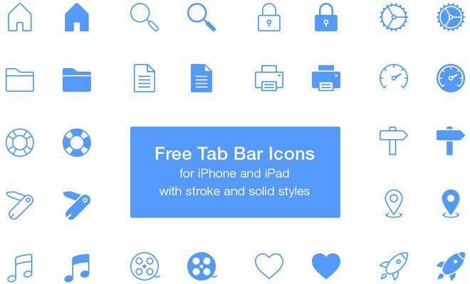 freebie pack ios tabbar icons psd