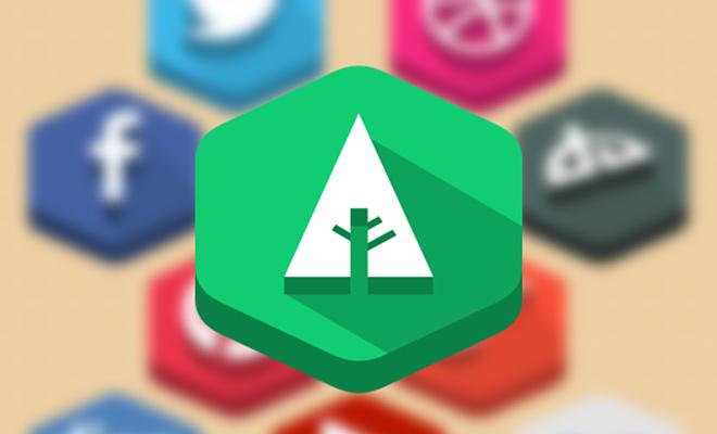 flat vector social icons tutorial