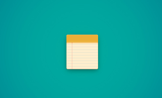 yellow notepad notebook icon illustrator