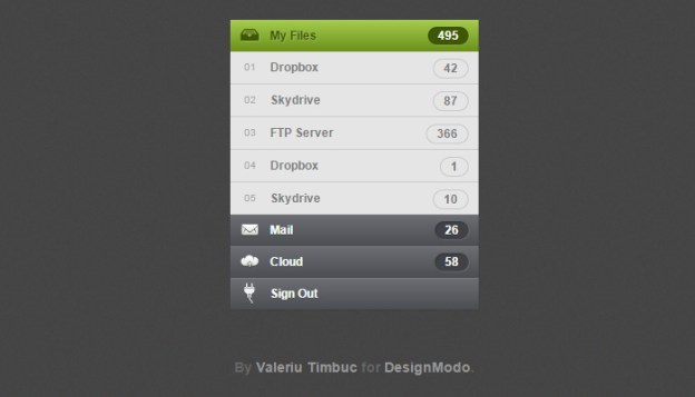 designmodo accordion open source css3 menu