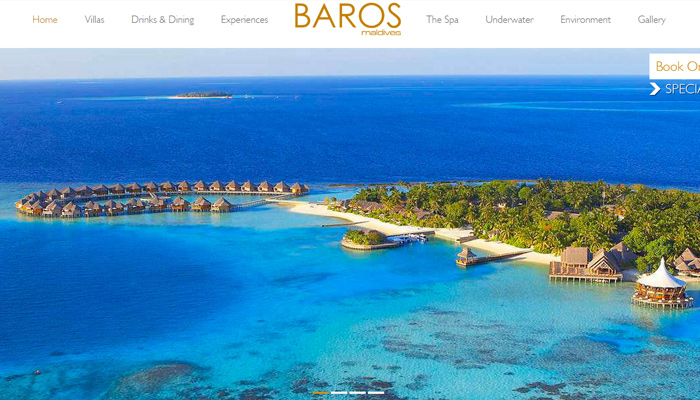 maldives baros resort hotel website