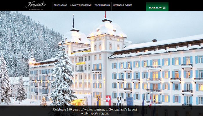kempinski hotel website inspiration