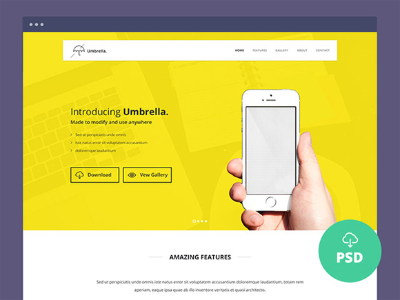 Free High Quality Website Template PSDs to Download