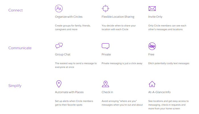 life360 startup features list homepage