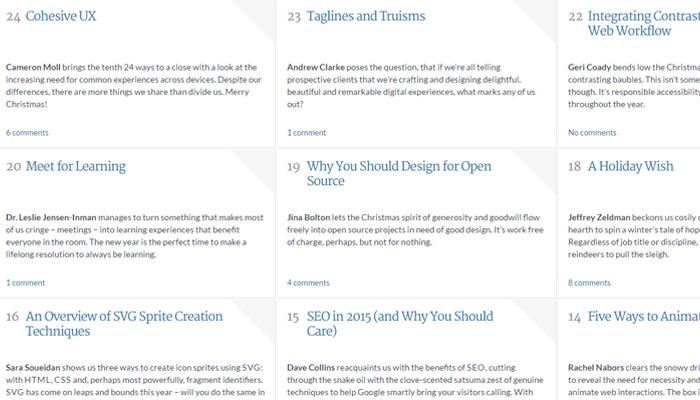 24ways design blog grid style design