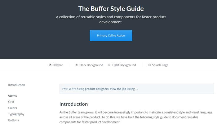buffer app style guide