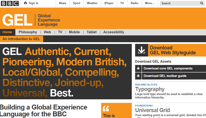 bbc style guide website layout