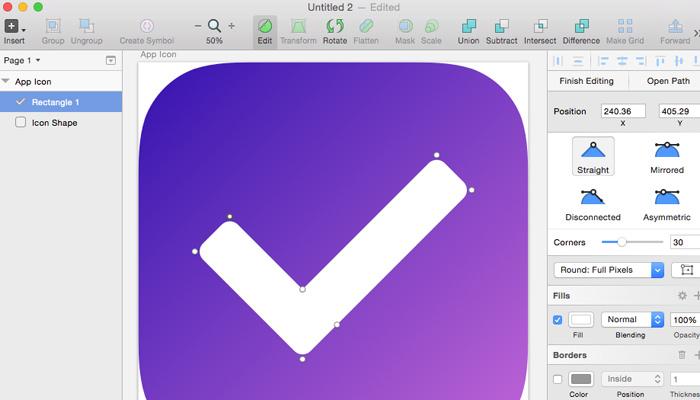simple app icon howto sketch3