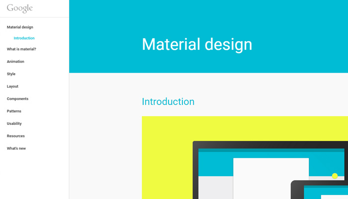 google material design style guide