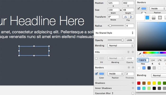 web design header tutorial sketch3