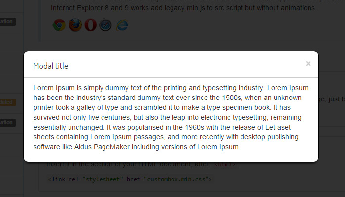 modalbox custom plugin custombox
