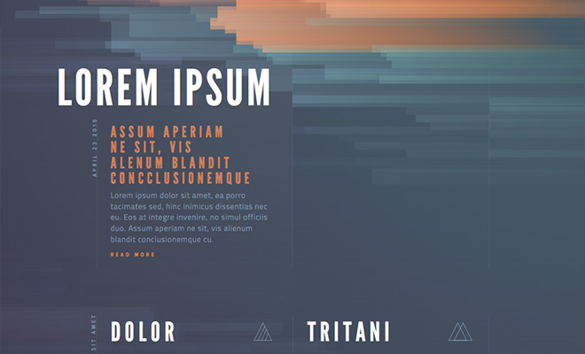 typography colors style tile