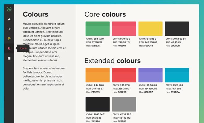 style tile color scheme