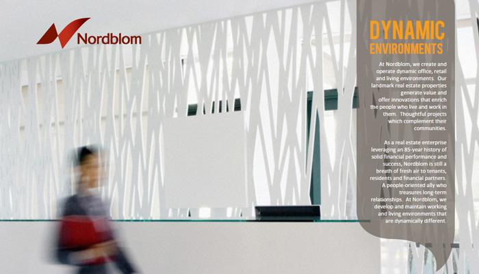 Nordblom tam ekran ana sayfa düzeni