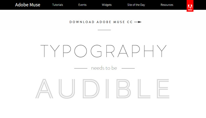 animation parallax muse website
