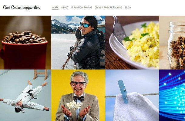 gari cruze copywriter designer portfolio website