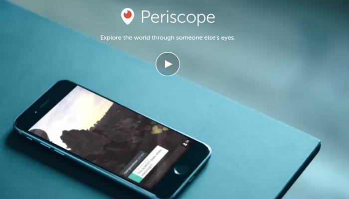 periscope app page