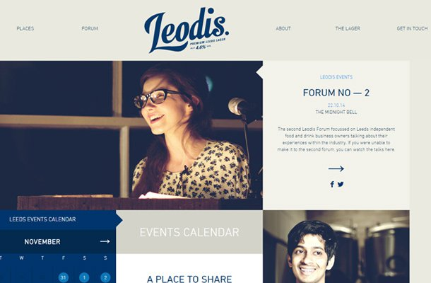 leodis lager website homepage animation