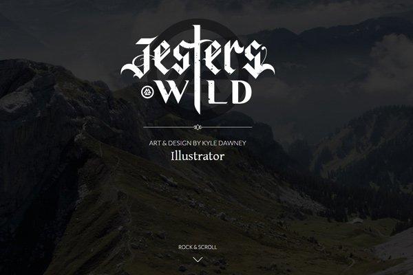 jesters wild dark portfolio website