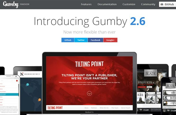 28 powerful open source css frameworks libraries gumby css framework homepage design malvernweather Images
