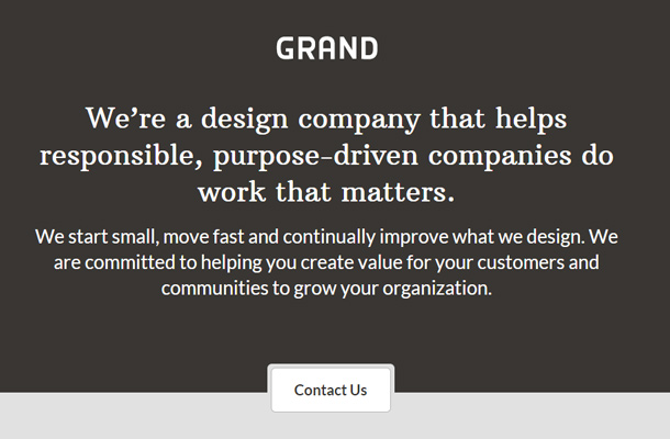 grand agency studio design website