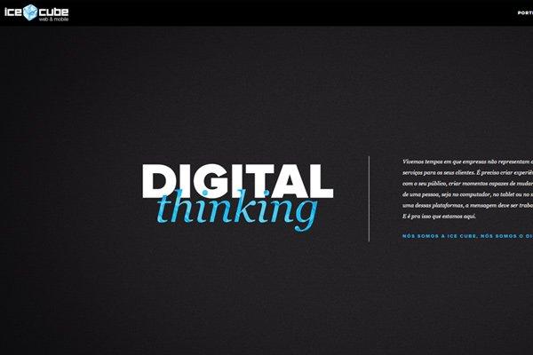 ice cube web design development dark homepage