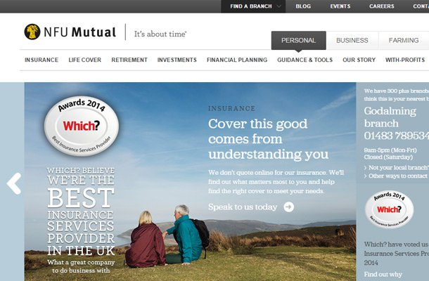 Banking financial company website designs for Top homepage