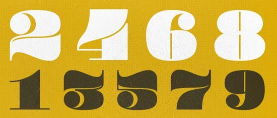 Pompadour Numerals