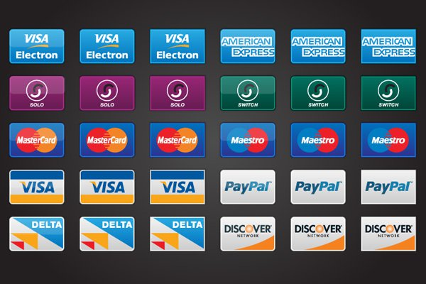 credit card payment icons freebie