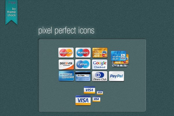 48 iconset pixel perfect credit cards