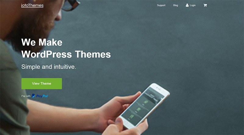 JotoThemes homepage design