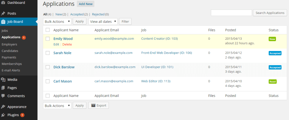 create a job board using wordpress job board plugin
