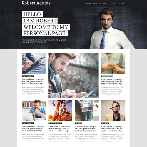 19-personal-page-psd-template