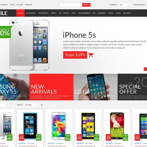 5-mobile -store-psd-template