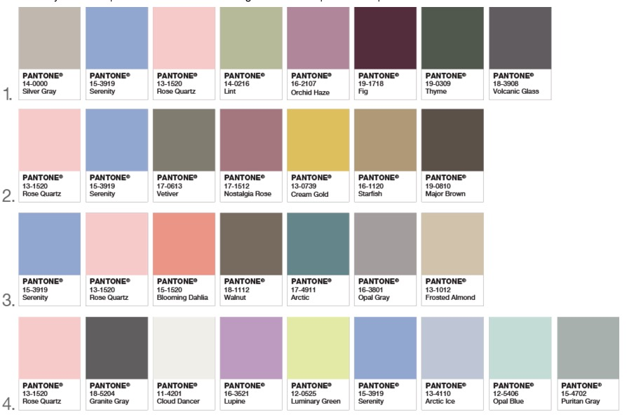 pantone releases its 2016 palette color of the year web design ledger. Black Bedroom Furniture Sets. Home Design Ideas