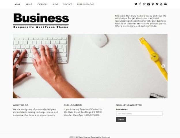 19. Business WordPress theme