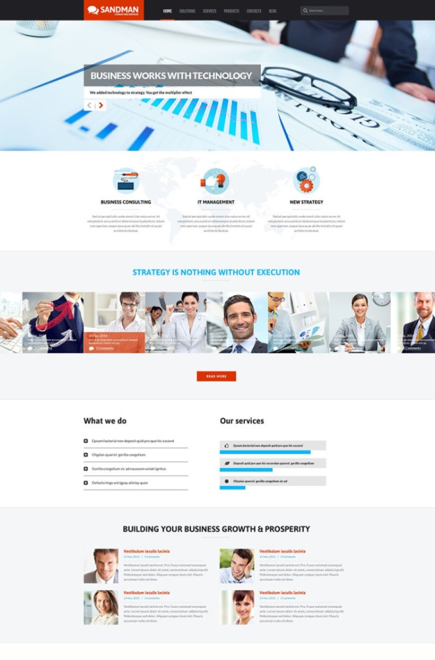 6 business wp template