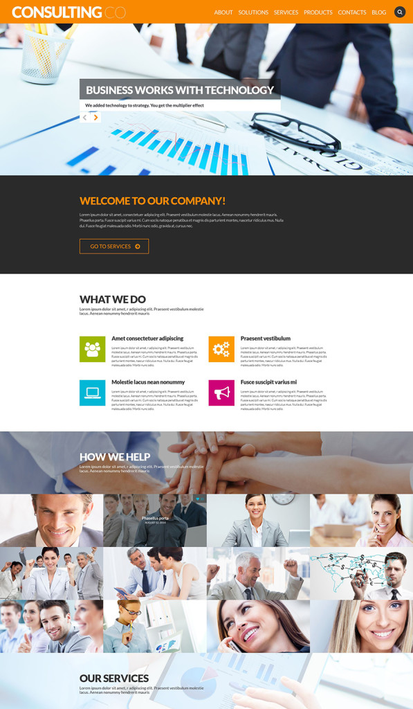 8 business and consulting wp template